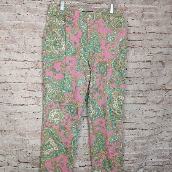 Lauren Ralph Lauren Pants - LRL Ralph Lauren Pink Paisley Pants